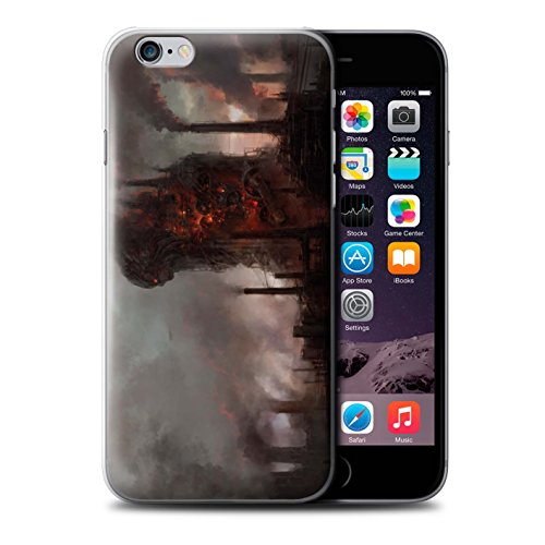Offiziell Chris Cold Hülle / Case für Apple iPhone 6+/Plus 5.5 / Pack 8pcs Muster / Gefallene Erde Kollektion Industrie Maschine