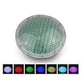 Roleadro LED Piscina Luci Subacquee RGB 21W PAR56 con Telecomando, 12V AC DC Illuminazione per Piscina Impermeabile IP68 per Nicchia