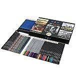 Set da 60 Pezzi Matite acquarellabili - Matite da Disegno - Set Pittura Premium Deluxe,includa le matite di schizzo, le matite del carbone di legna e le matite colorate di alta qualità