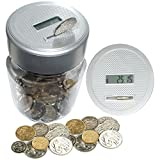 DIGITAL COIN COUNTING MONEY JAR LCD DISPLAY PIGGY CASH BOX COUNTERS COINS by Kingavon