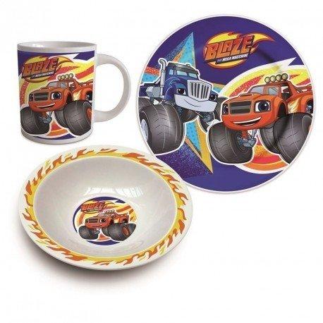 Blaze And The Monster Machine- Set Desayuno 3 Piezas Ceramica (Suncity BLA102356)