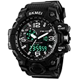 #5: SKMEI Analog-Digital Black Dial Men's Watch-AD1155 (BK WHITE)