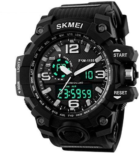 Skmei Analogue-Digital Black Dial Men's Watch - 1155