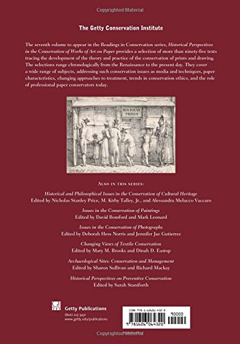 Historical Perspectives in the Conservation of Works of Art on Paper (Readings in Conservation)