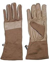Max Fuchs BW Combat guantes Coyote larga polaina tapicería de cuero, color Marrón - marrón, tamaño M