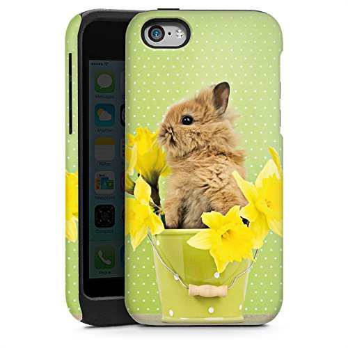 Apple iPhone 4 Housse Étui Silicone Coque Protection Lapin de Pâques Lapin Lapin Cas Tough brillant