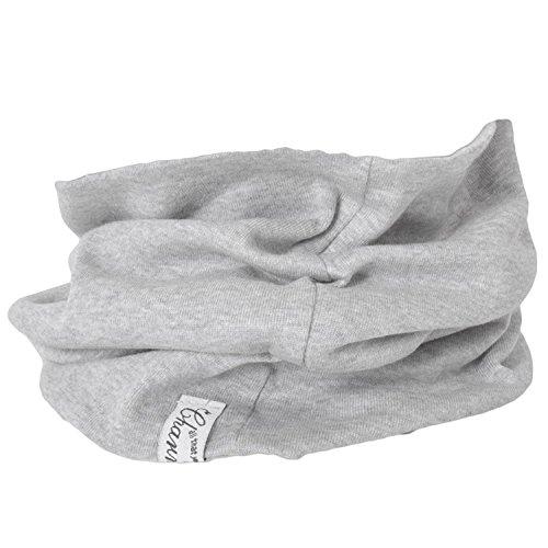Casualbox unisex headband scaldacollo accogliente 100% organico cotone fatto in giappone sciarpa grigio chiaro
