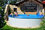Poolzon Schwimmbecken Rundpool Fun-Zon 3,50 x 1,20m Stahlwandpool, Rundbecken