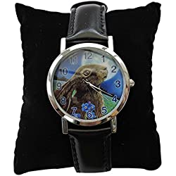 Moon Gazer - Hare wrist watch by Lisa Parker