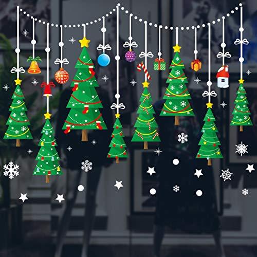 tas engomadas hermosas del Papel Pintado de la Serie de la Navidad antiestáticas decoración de la Ventana tienda exhibición etiquetas engomadas de la Ventana ()