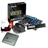 tronics24 PC Aufrüstkit | AMD FX-4300 4x 3.8GHz Quad-Core | 4GB DDR3-RAM PC-1333 | ATI Radeon HD3000 512MB | Asus M5A78L-M LX3 Mainboard mit AMD 760G Chipset | Gigabit-LAN | Soundkarte