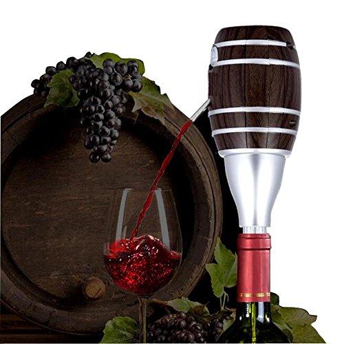 Shsyue®; Lebesmittelechte Edelstahl Elektrischer Weinbelüfter Wein Dekanter 6 Sekunden Wein Dekantieren Batteriebetrieben