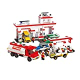 Sluban Building And Construction Blocks M38-B2900 Service Center Building Block Construction Set 727 Piece