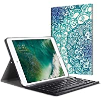 44f5464d18c Fintie iPad 9.7 2018 2017 / iPad Air 2 / iPad Air Keyboard Case - Slim  Shell Stand Cover w/Magnetically Detachable Wireless Bluetooth Keyboard for  iPad 6th ...