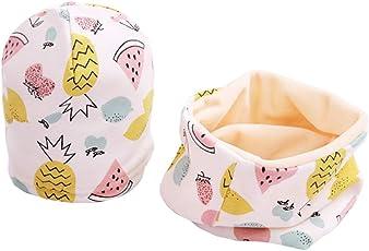Boomly Baby Kinder Winter Beanie Mütze Hut Warm Loop Schal Set Baumwollschal Halsbänder Hut Velvet-Futter Nackenwärmer Schal Bandana Hut