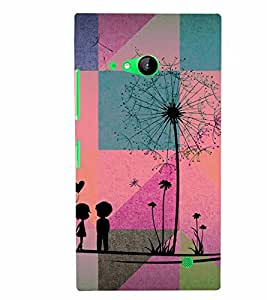 PrintVisa Romantic Love Couple 3D Hard Polycarbonate Designer Back Case Cover for Nokia Lumia 730