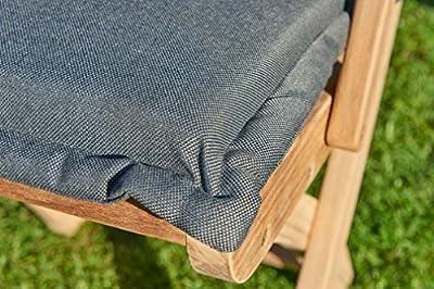 Gartensessel Polster Grau 50 x 45 Hocker Fußhocker Sessel Auflage von Destiny - Gartenmöbel von Du und Dein Garten