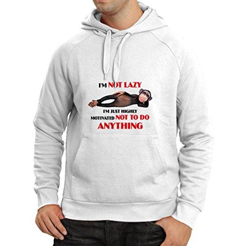 lepni.me N4311H Kapuzenpullover Hoch motivierte Person (Medium Weiß ()