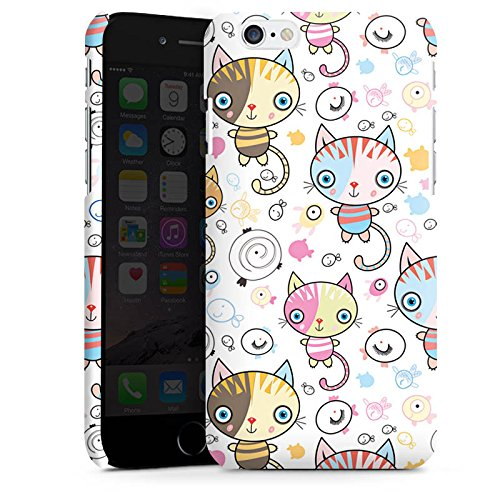 Apple iPhone 4 Hülle Case Handyhülle Katze Kids Kinder Premium Case matt