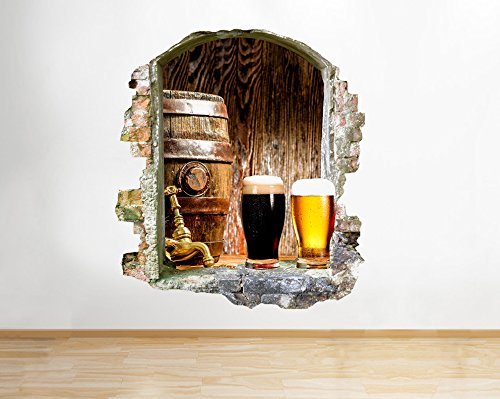 q653-beer-mancave-stag-bar-living-window-wall-decal-3d-art-stickers-vinyl-room