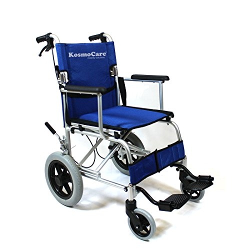 KosmoCare Stylex Ultra Lightweight Transporter Wheelchair with Seat Belt