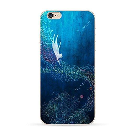 Pacyer® iPhone 7 Custodia Cielo Stellato Transparente TPU Gel Silicone Protettivo Skin Shell Case Cover Per Apple iPhone 7 (4.7) 1