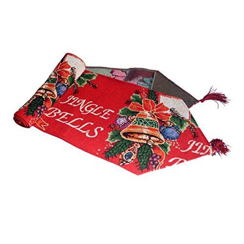 Weihnachten Tapestry Tischdecke Runner Jingle Bells W/Tassel ()