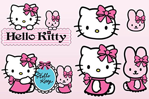 Stickersnews - Stickers enfant planche de stickers Hello Kitty réf 9541 Dimensions - 30x20cm