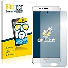 2x BROTECT Protector Pantalla ZTE Nubia M2 Película Protectora – Transparente, Anti-Huellas