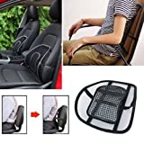 Xectes Car Seat Chair Cushion Lumbar Back Support for Car Seat Chair Office Massage Mesh Ventilate Pain Relief Cushion Pad