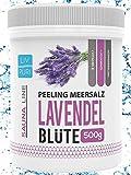 Sauna Zubehör Meersalz Peeling Salz Saunasalz I Lavendel 500g I mit Jojobaöl I für die Haut I Ideale Wellness