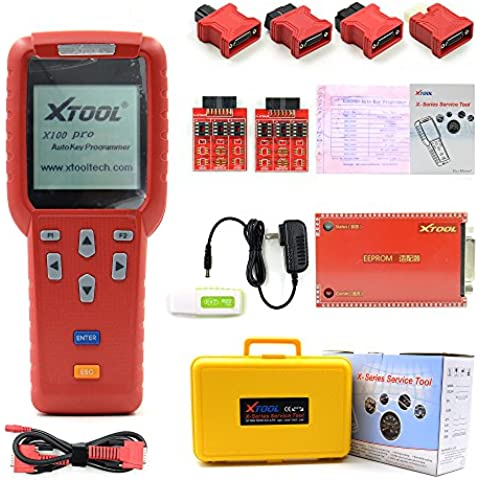 2016 Original Xtool X100 Pro OBDII Diagnostic Auto Key Programmer Code Reader Updated Version with Adapter EEPROM X-100 Pro ECU & Reset Immobilizer,Immo PINCODE Reader Programmer System Work for Asia,Europe,America Cars