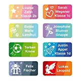 foliado Namensaufkleber Kinder bis zu 3-zeilig Etikett 30x15mm Sticker Namensetikett Schule Kita Kleidung (60 Stück) APD-004