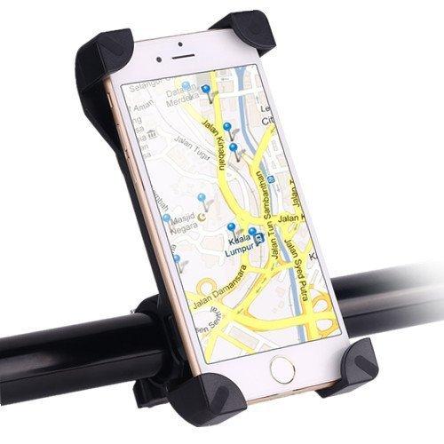 Awnic Soporte Móvil Bicicleta Ultra Estable 4 Esquinas Cerradas Silicona Antideslizante Universal para 3,5'' a 6,5'' de iPhone Android Smartphone,