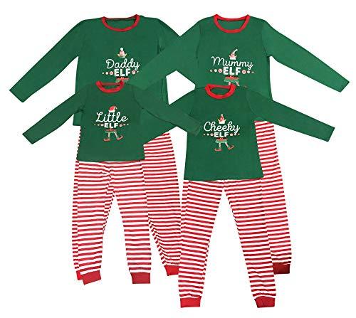 Elf Pyjamas Weihnachten Familie PJs Passende Dad Mum frechen Elfen Männer Frauen-Mädchen-Jungen-Weihnachtsnachtwäsche Outfit (XL, Papa)