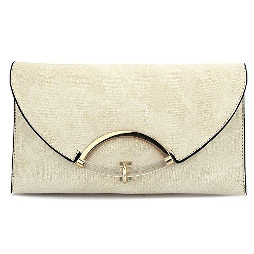 HT Envelope Bags, Poschette giorno donna Beige