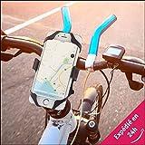 Be Konect - Support Téléphone Moto Vélo Scooter  Restez connectés sur votre moto/vélo - Fixation Solide & Réglable pour Smartphone, GPS, Lecteur MP3