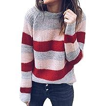 Piebo 2019 Invierno Mujer Moda Calentar Diario Casual O-Cuello Manga Larga  Jersey de Punto 1d556380fb0f