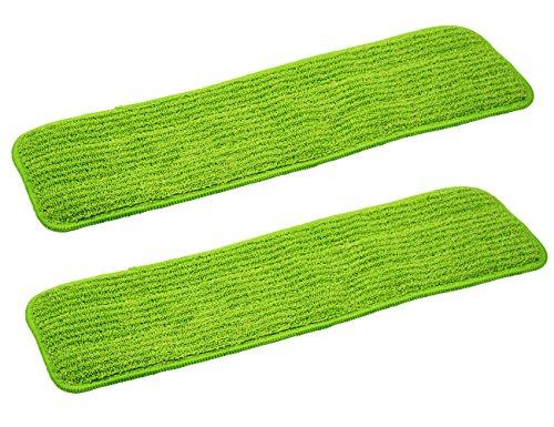 Straccio per pulire per mocio, adatto a tutti i tipi di Spray Mops e Reveal Mops. Lavabile, di qualità commerciale–utilizzabile asciutto o bagnato, 42,5 x 13cm, 2 confezioni di ricambio Green
