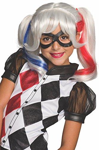 DC Super Hero Girls Harley Quinn Costume Wig Child One Size
