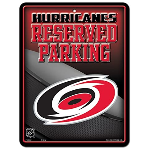 NHL Carolina Hurricanes Metal Parking Sign