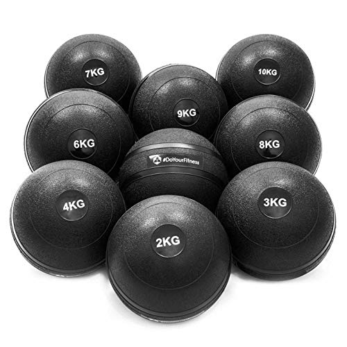 #DoYourFitness® Slamball/Medizinball 0,5kg bis 10kg - robuste & strukturierte Oberfläche - ohne/kein Rückprall : idealer Fitness Ball für Kraft-, Ausdauer- & Functionaltraining / 0,5kg Bleon -