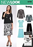 New Look Sewing Pattern 6735 - Misses Separates Sizes: A (10 12 14 16 18 20 22)