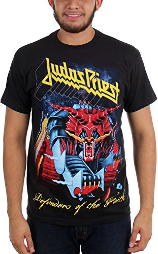 Judas Priest - Defensores de los hombres de Jumbo T-shirt de Negro -, Medium, Black