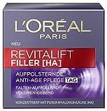 L'Oreal Paris Revitalift Filler [HA] Anti-Age Tagespflege, mit Hyaluronsäure, füllt Falten auf und sorgt für eine prallere Haut, 50 ml