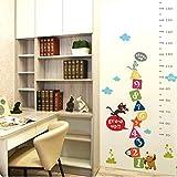 Fqz93in Höhe Aufkleber Cartoon Katze Maus Hund Tiere Höhe Maßnahme Wandaufkleber Für Kinderzimmer Wachstum Chart Wandtattoo Kunst Kinderzimmer Poster 153X75 cm