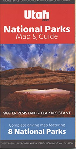 National Parks Map & Guide Utah.com: Grand Canyon, Zion, Bryce Canyon, Arches, Canyonlands, Mesa Verde, Capitol Reef, and Great Basin