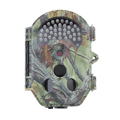 Poncherish WildKamera Jagdkamera 16MP Automatische Dual PIR Sensoren 120 ° PIR Winkel Super Nacht Version Wildlife Jagd Trail Kamera HD1080 E6