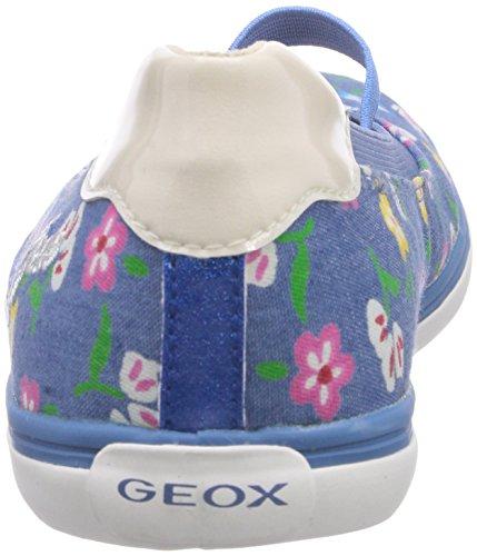 Geox Jr Kiwi Girl D, Ballerines fermées fille Bleu denim (C4051)