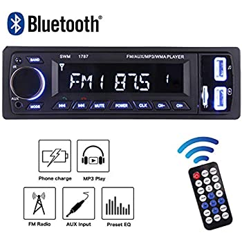 Digital Media Player MP3 Player Car Audio FM Radio Supports Hands-free Calls and Radio Function file reading function with USB//SD//AUX Hands Kdely Bluetooth Car Stereo